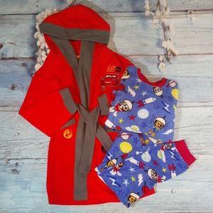 Bundle of Bathrobe & PJ's set Boy Size 6